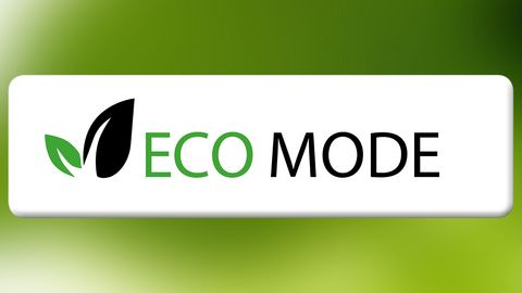 The ECO mode helps save electricity and energy.
