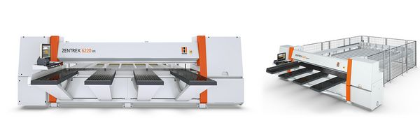 The HOLZ-HER ZENTREX pressure beam saws set new standards with enormous dynamic power and use of precision technology such as ground linear guides and controlled servo-drives with CNC technology