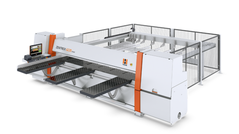 Beam saw ZENTREX classic: cutting package for single panels and package cutting work up to 100 mm